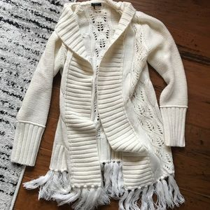 Cable knit  long cardigan